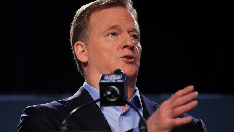 7c188427-NFL Commissioner Roger Goodell Super Bowl Press Conference
