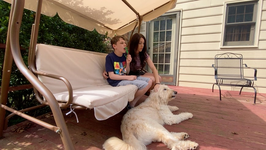 Outpouring of support for service dog that helps boy with autism