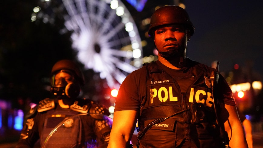 Rising tensions between demonstrators and police after 3 nights of protests in Atlanta