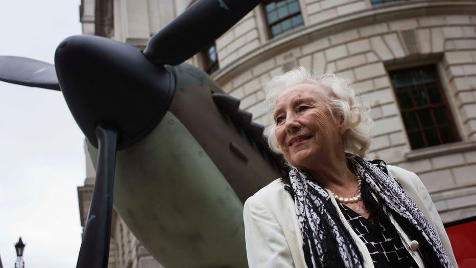 UK - London - Dame Vera Lynn at Battle of Britain 70th anniversary