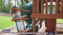 Covington family grateful for donated playground
