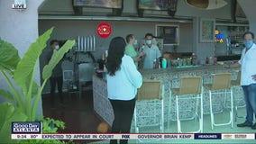 Social distance part of the experience at Nuevos Amigos Cocina Mexicana