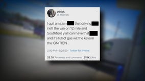 Amazon driver quits, leaving his truck with packages and keys inside posting viral Twitter rant