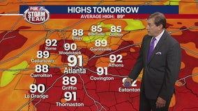 Thursday late afternoon forecast
