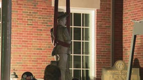 Rockdale County removes Confederate monument from courthouse