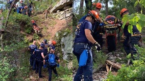 Hiker rescued after falling in Stone Mountain Park