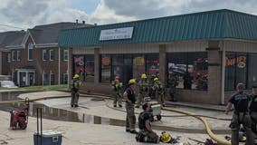 Firefighters battle blaze at Lawrenceville-area thrift store