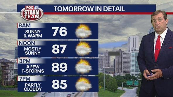 Friday late evening forecast