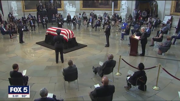 Tribute continue for Congressman Lewis in D.C.