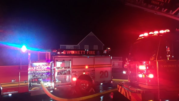 House fire displaces Gwinnett County family
