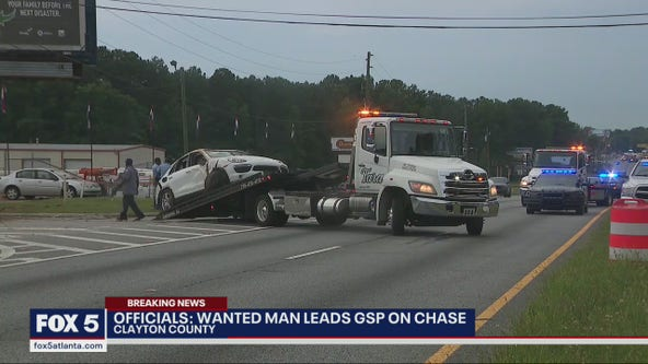 GSP: Driver wanted in several states leads troopers on chase through Clayton County