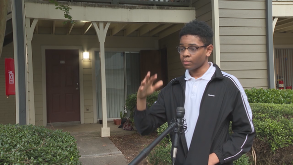 Atlanta teen called 'hero' after helping save neighbors from fire