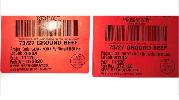 USDA recalls more than 38,000 pounds of imported beef due to lack of inspection
