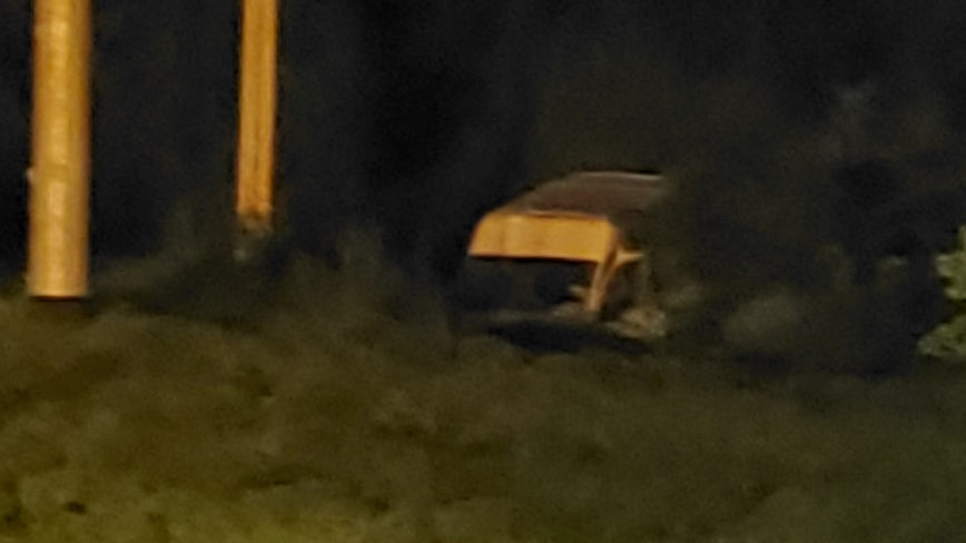 High speed chase ends with van in creek in Cobb County
