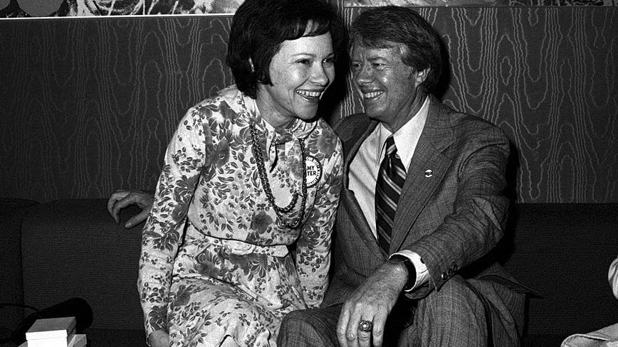 Jimmy and Rosalynn Carter celebrate their 74th anniversary