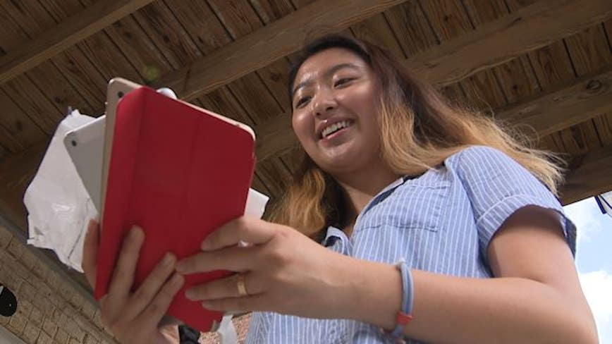 Emory University student collecting used smart devices to connect seniors with telehealth