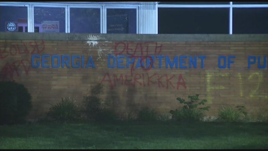 Vandals target Georgia State Patrol headquarters in Atlanta