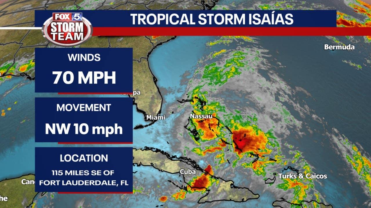 Tropical Storm Watch for Georgia coast, Isaías downgraded...