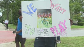 Student-athletes in Rockdale County protest delays in fall sports