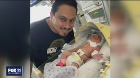Memorial held for pregnant woman killed by suspected DUI driver in Anaheim; daughter makes progress in ICU