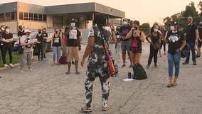 Demonstrators rally for 'Rayshard Brooks Peace Center'