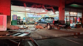 Truck smashes into front of Cherokee County convenience store, cashier hospitalized