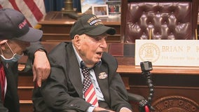WWII veteran on quest to meet governor of each state stops in Georgia