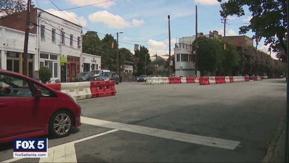 Atlanta uses barricades to block street racing, drifting