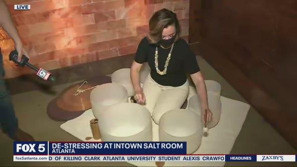 De-stressing at Intown Salt Room