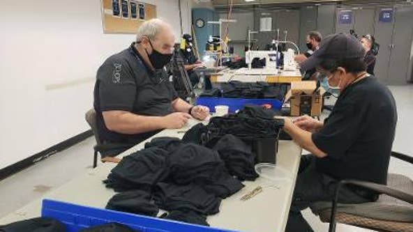 Delta aviation maintenance technicians have traded in their tools for sewing machines