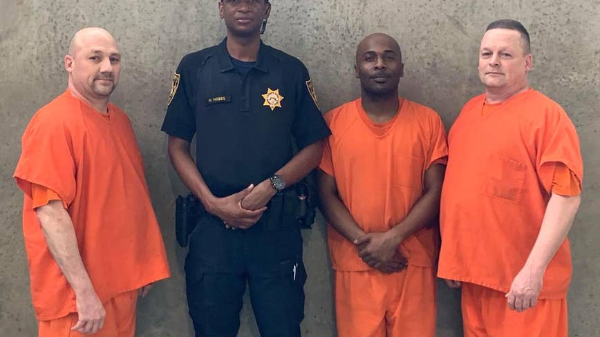 Georgia deputy saved by inmates back on the job after medical emergency