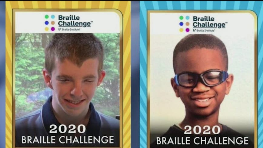 2 Georgia students win national braille competition