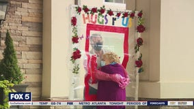 Assisted living facility creates hugging stations