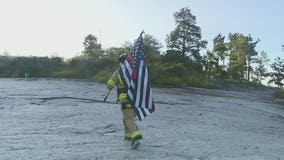 Firefighters climb Stone Mountain as tribute to 9/11 first responders