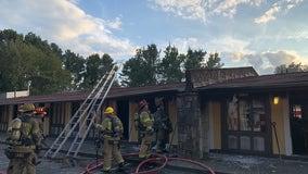 Police officer spots major fire at Gwinnett County hotel