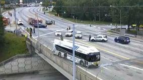 Police: 1 dead in car crash involving MARTA bus