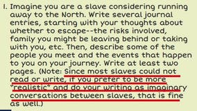 Georgia elementary students assigned to imagine themselves as slaves