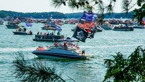 Boat parade supporting President Trump held at Lake Lanier