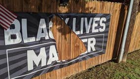 Police trying to find out who vandalized and stole a Black Lives Matter banner