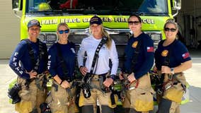 First ever all-female crew makes history at Florida fire department