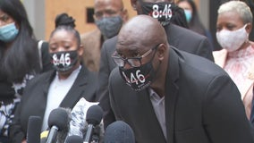 Family of George Floyd calls for justice following pre-trial hearing for fired officers