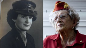 Oldest living US Marine celebrates her 107th birthday in North Carolina