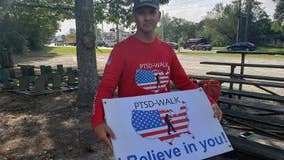 Veterans passing through Georgia on a 2,000 mile journey to talk about PTSD