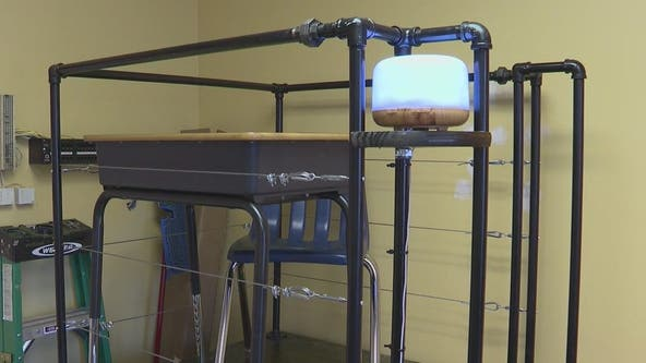 Social distancing solution: Roswell teacher's design has pending patent