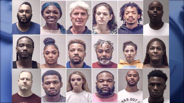 Georgia prostitution bust: Human trafficking victims rescued, 18 arrested