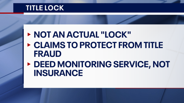 Title Lock Insurance is a waste of your money