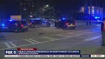 Heavy police presence in northwest Atlanta