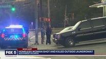 Homeless woman shot and killed outside laundromat