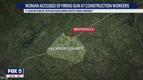 7-hour standoff in Jackson County ends with woman's arrest