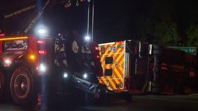 5 injured in crash, ambulance rollover in Clayton County